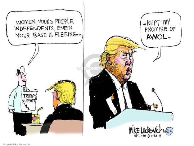 Mike Luckovich  Mike Luckovich's Editorial Cartoons 2019-01-29 president