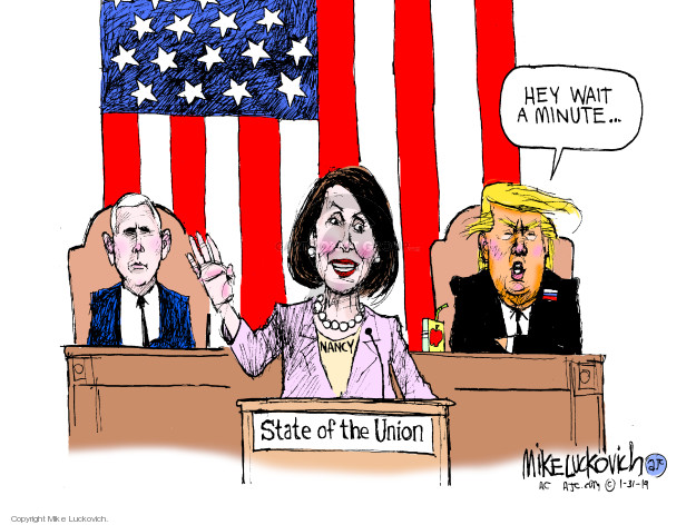 Mike Luckovich  Mike Luckovich's Editorial Cartoons 2019-01-31 Mike Pence