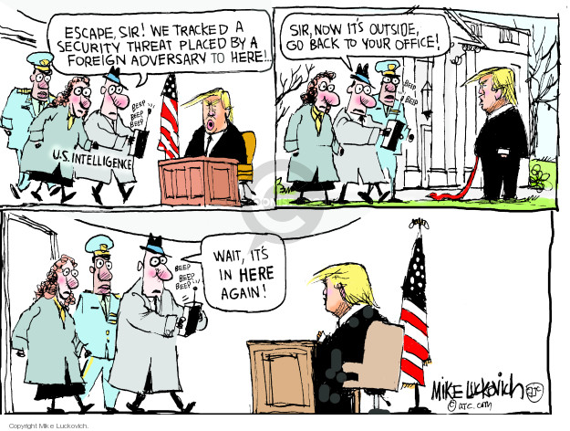 Cartoonist Mike Luckovich  Mike Luckovich's Editorial Cartoons 2019-02-01 Trump administration