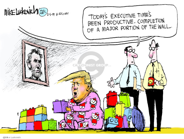 Cartoonist Mike Luckovich  Mike Luckovich's Editorial Cartoons 2019-02-05 wall