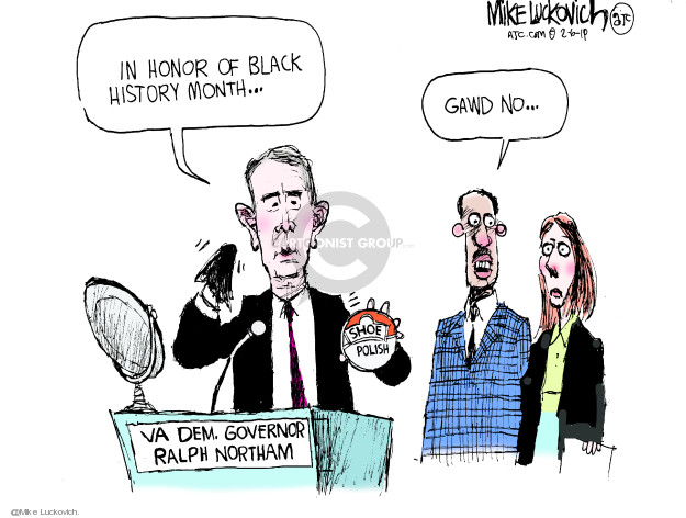 In honor of Black History Month … Gawd no … VA Dem. Governor Ralph Northam. Shoe polish.