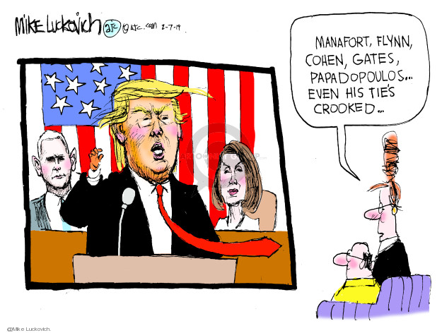 Mike Luckovich  Mike Luckovich's Editorial Cartoons 2019-02-07 Mike Pence