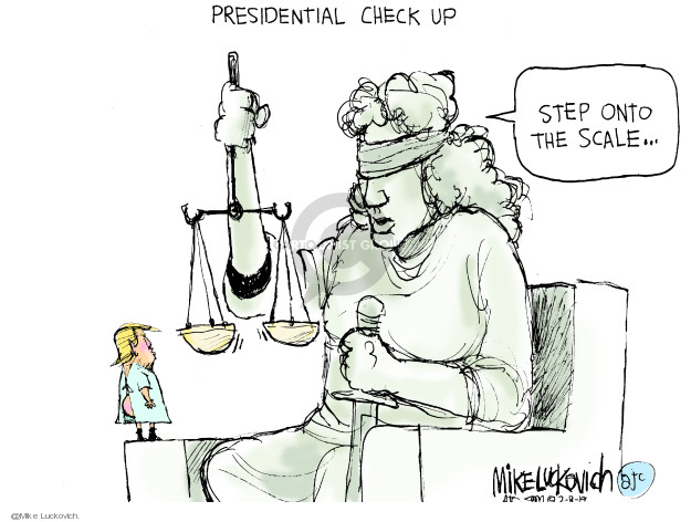 Presidential Check Up. Step onto the scale …