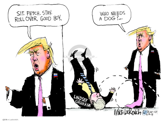 Cartoonist Mike Luckovich  Mike Luckovich's Editorial Cartoons 2019-02-13 republican senate