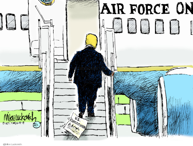 Cartoonist Mike Luckovich  Mike Luckovich's Editorial Cartoons 2019-02-19 authority