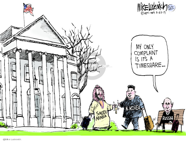 Mike Luckovich  Mike Luckovich's Editorial Cartoons 2019-02-22 influence