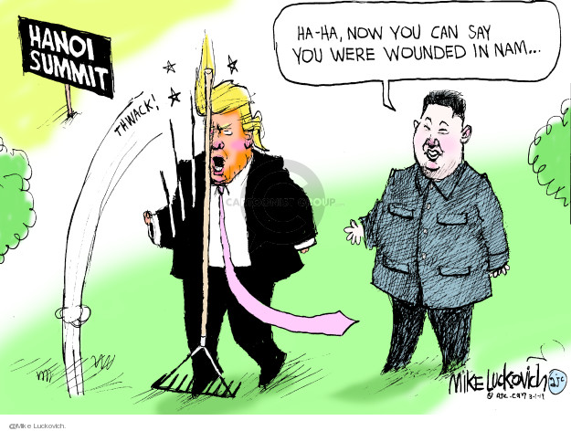 Hanoi Summit. Ha-ha, now you can say you were wounded in Nam …