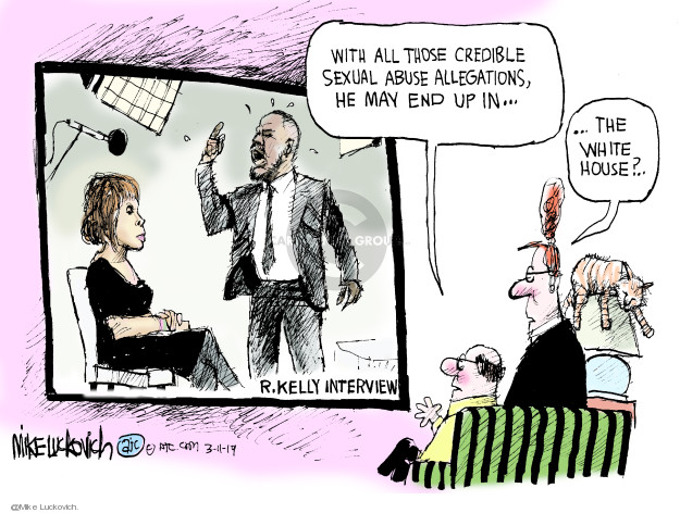 Cartoonist Mike Luckovich  Mike Luckovich's Editorial Cartoons 2019-03-10 king
