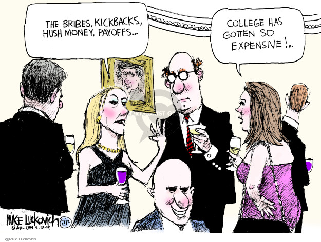 Cartoonist Mike Luckovich  Mike Luckovich's Editorial Cartoons 2019-03-13 cost
