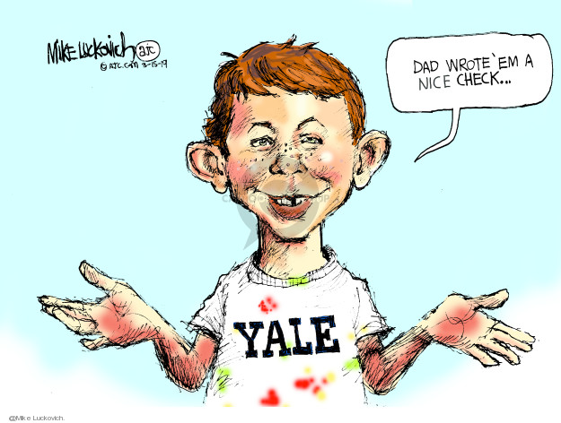 Mike Luckovich  Mike Luckovich's Editorial Cartoons 2019-03-15 fraud
