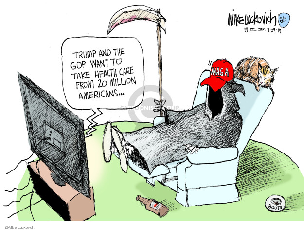 Cartoonist Mike Luckovich  Mike Luckovich's Editorial Cartoons 2019-03-29 Presidency