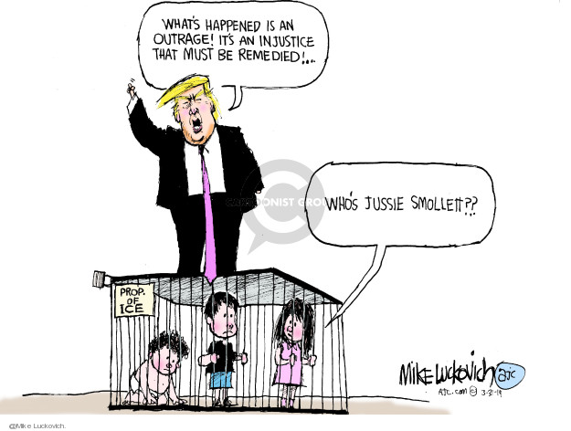 Cartoonist Mike Luckovich  Mike Luckovich's Editorial Cartoons 2019-03-31 accusation