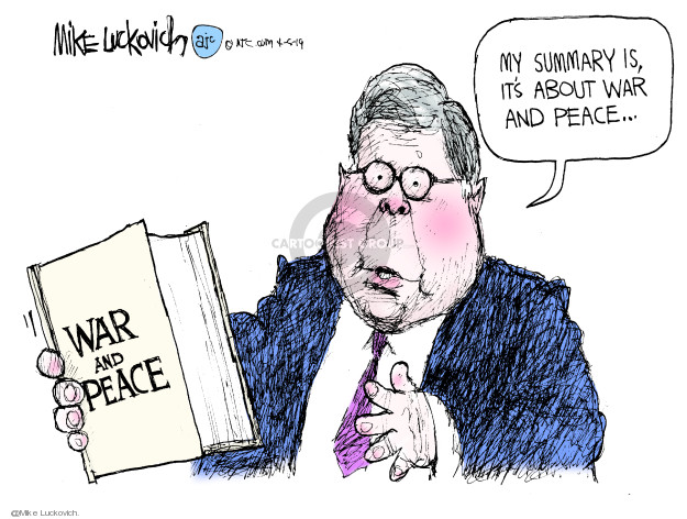 Cartoonist Mike Luckovich  Mike Luckovich's Editorial Cartoons 2019-04-05 William