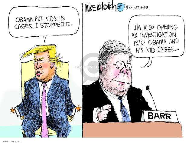 Mike Luckovich  Mike Luckovich's Editorial Cartoons 2019-04-11 Trump Immigration