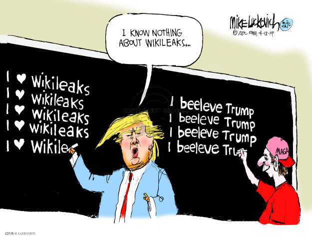 Cartoonist Mike Luckovich  Mike Luckovich's Editorial Cartoons 2019-04-12 Presidency