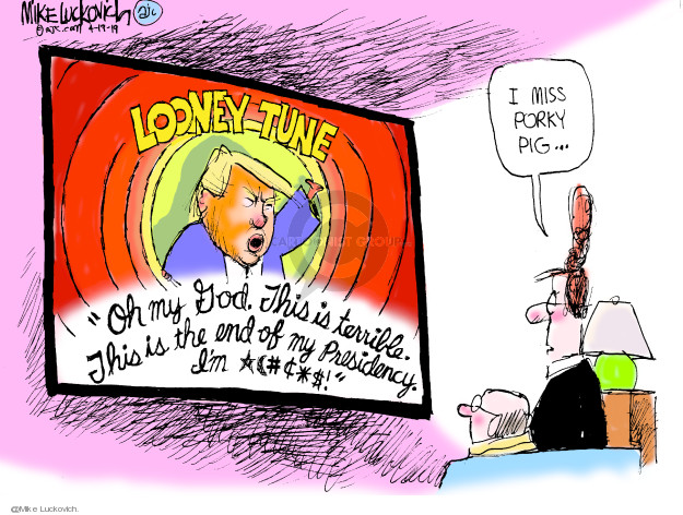 Cartoonist Mike Luckovich  Mike Luckovich's Editorial Cartoons 2019-04-19 Russia Investigation