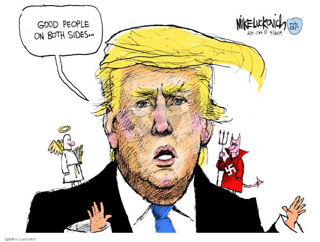 Cartoonist Mike Luckovich  Mike Luckovich's Editorial Cartoons 2019-04-30 race