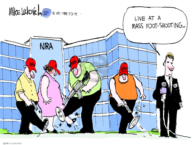 NRA. Live at a mass foot-shooting …