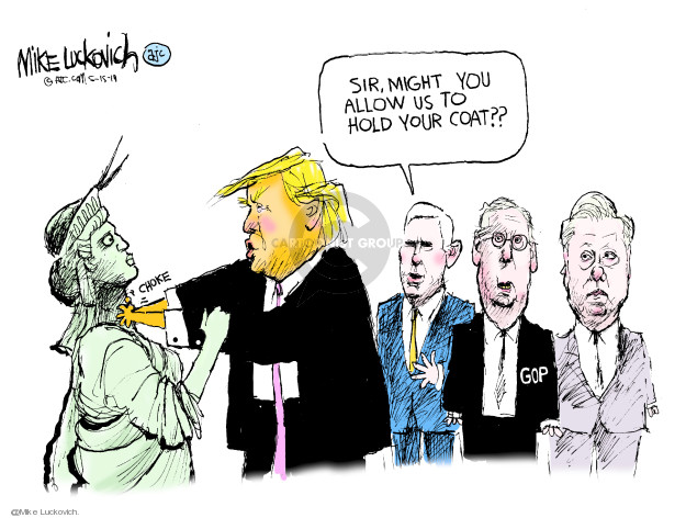 Cartoonist Mike Luckovich  Mike Luckovich's Editorial Cartoons 2019-05-15 liberty