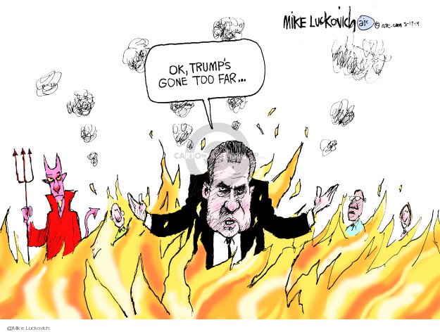 Cartoonist Mike Luckovich  Mike Luckovich's Editorial Cartoons 2019-05-17 Richard Nixon