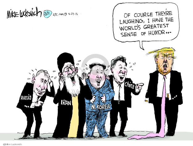 Mike Luckovich  Mike Luckovich's Editorial Cartoons 2019-05-29 Donald Trump Vladimir Putin