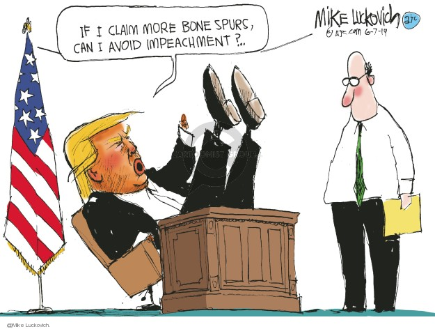 Cartoonist Mike Luckovich  Mike Luckovich's Editorial Cartoons 2019-06-07 claim