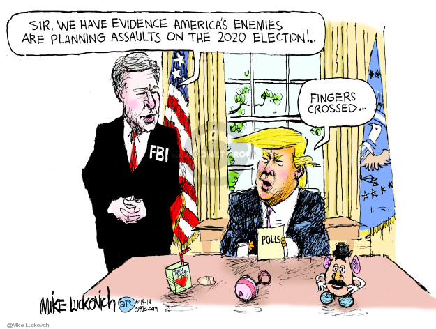 Mike Luckovich  Mike Luckovich's Editorial Cartoons 2019-06-14 2016 Election Russian Interference