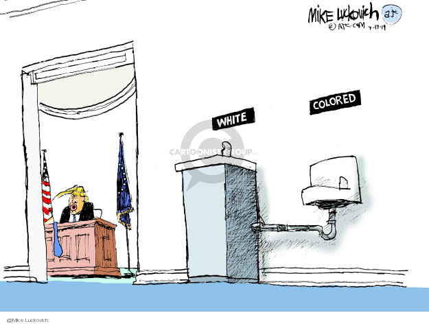 Mike Luckovich  Mike Luckovich's Editorial Cartoons 2019-07-17 discrimination