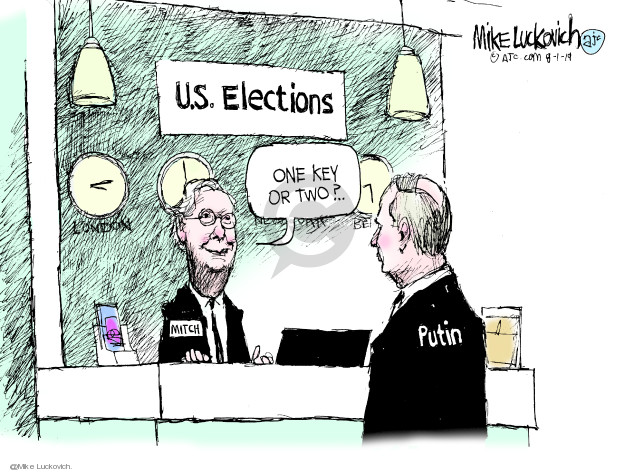 Cartoonist Mike Luckovich  Mike Luckovich's Editorial Cartoons 2019-08-01 Russia