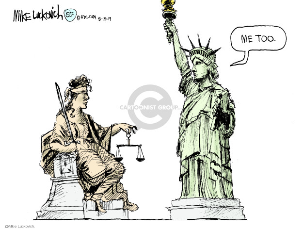 Cartoonist Mike Luckovich  Mike Luckovich's Editorial Cartoons 2019-08-15 liberty