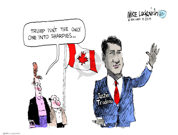 Mike Luckovich  Mike Luckovich's Editorial Cartoons 2019-09-22 Justin