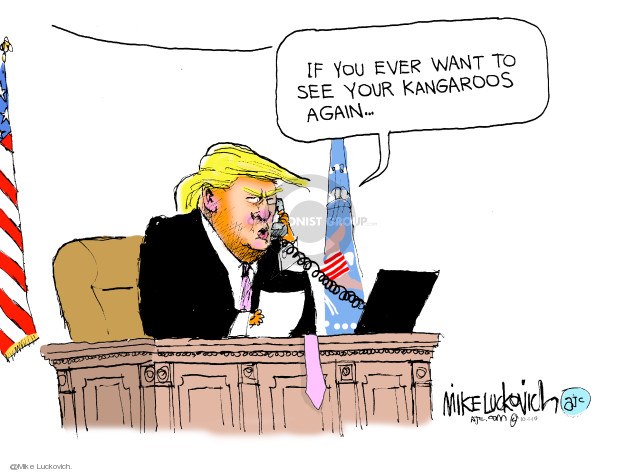 Mike Luckovich  Mike Luckovich's Editorial Cartoons 2019-10-01 Donald Trump and Russia