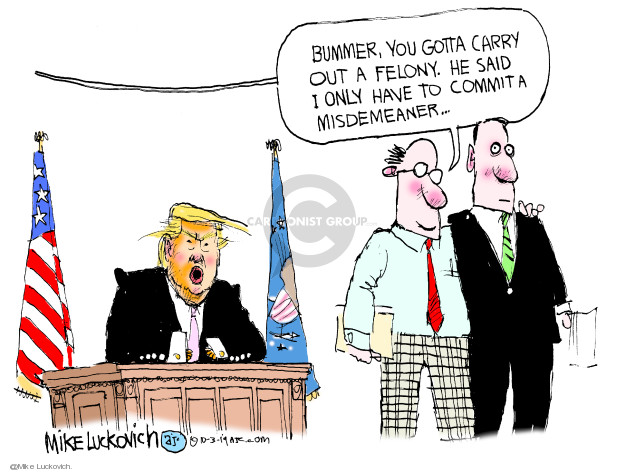 Mike Luckovich  Mike Luckovich's Editorial Cartoons 2019-10-03 Trump Impeachment