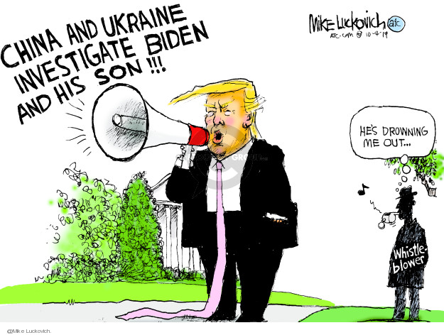 Mike Luckovich  Mike Luckovich's Editorial Cartoons 2019-10-04 Trump Impeachment