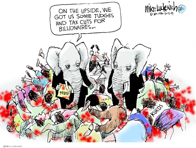 Cartoonist Mike Luckovich  Mike Luckovich's Editorial Cartoons 2019-10-11 armed forces