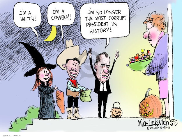 Mike Luckovich  Mike Luckovich's Editorial Cartoons 2019-10-20 Halloween