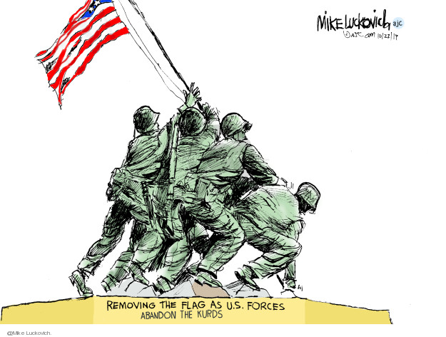 Cartoonist Mike Luckovich  Mike Luckovich's Editorial Cartoons 2019-10-22 armed forces