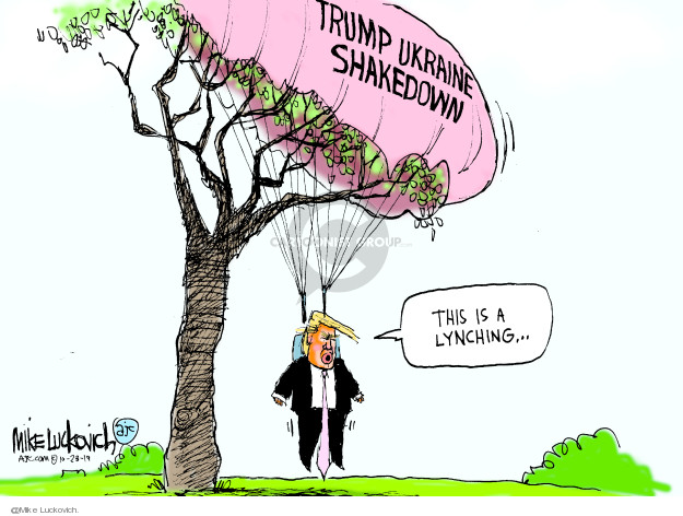 Cartoonist Mike Luckovich  Mike Luckovich's Editorial Cartoons 2019-10-23 2020 election