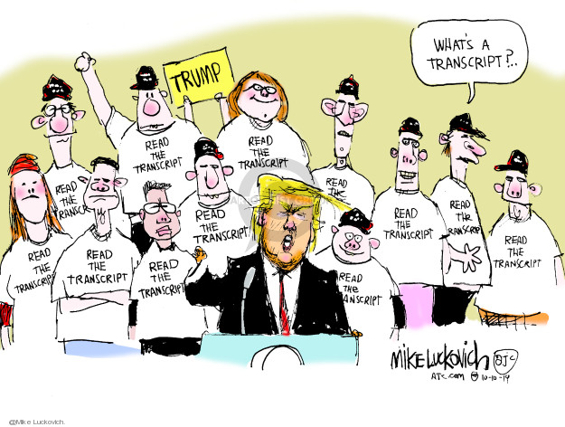 Cartoonist Mike Luckovich  Mike Luckovich's Editorial Cartoons 2019-11-10 foreign