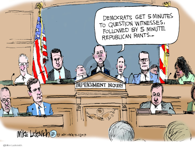 Mike Luckovich  Mike Luckovich's Editorial Cartoons 2019-11-14 Republican opposition