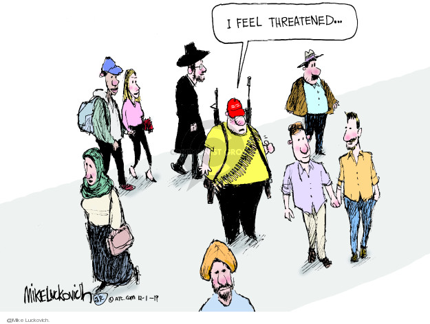 Cartoonist Mike Luckovich  Mike Luckovich's Editorial Cartoons 2019-12-01 gun rights