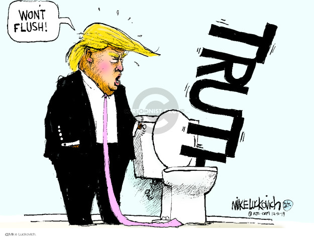 Cartoonist Mike Luckovich  Mike Luckovich's Editorial Cartoons 2019-12-10 impeach