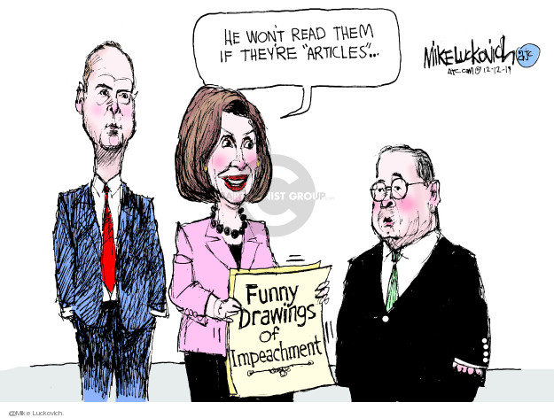 Cartoonist Mike Luckovich  Mike Luckovich's Editorial Cartoons 2019-12-12 leader
