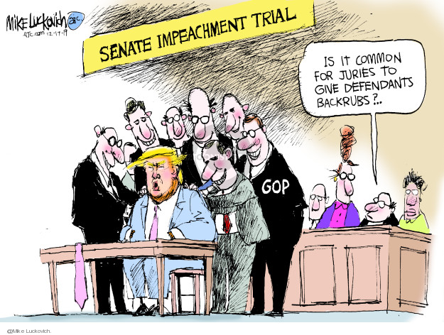 Cartoonist Mike Luckovich  Mike Luckovich's Editorial Cartoons 2019-12-17 impeachment