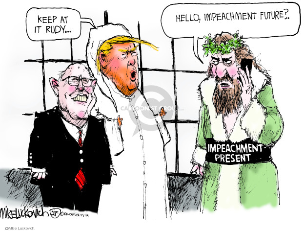 Cartoonist Mike Luckovich  Mike Luckovich's Editorial Cartoons 2019-12-19 impeachment