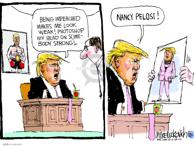 Cartoonist Mike Luckovich  Mike Luckovich's Editorial Cartoons 2019-12-20 impeach