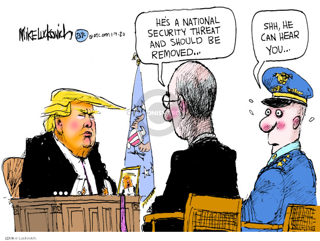 Mike Luckovich  Mike Luckovich's Editorial Cartoons 2020-01-07 White House