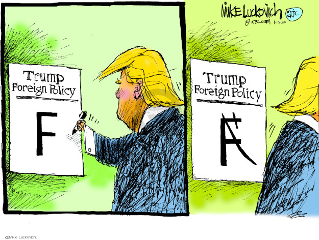 Cartoonist Mike Luckovich  Mike Luckovich's Editorial Cartoons 2020-01-10 international politics