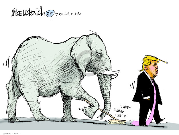 Mike Luckovich  Mike Luckovich's Editorial Cartoons 2020-01-12 republican party