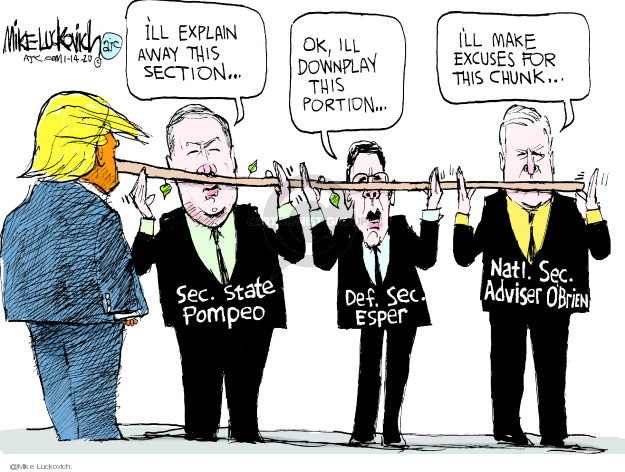 Cartoonist Mike Luckovich  Mike Luckovich's Editorial Cartoons 2020-01-14 international politics